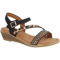 Schoenen Dames Sandalen / Open schoenen Cipriata  Zwart/Leopard Print