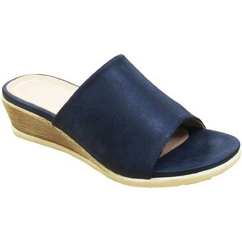 Schoenen Dames Leren slippers Cipriata  Marine