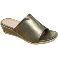 Schoenen Dames Leren slippers Cipriata  Goud