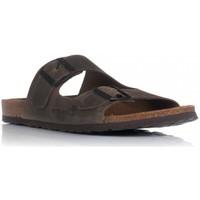 Schoenen Heren Leren slippers Interbios 9560 Bruin