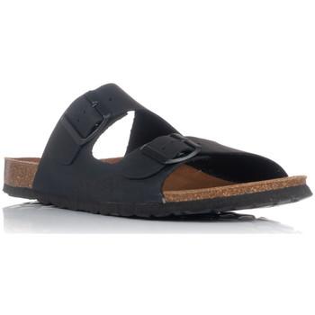 Schoenen Heren Leren slippers Interbios 9560 Zwart