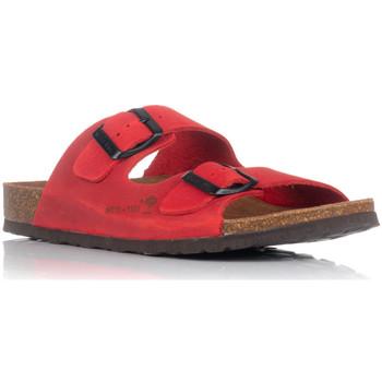 Schoenen Dames Leren slippers Interbios 7206 Rood