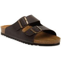 Schoenen Dames Leren slippers Bioline 420 MORO PREMIER Marrone