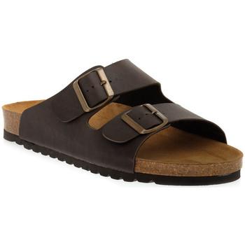 Schoenen Dames Leren slippers Bioline MORO PREMIER Marrone