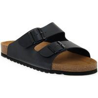 Schoenen Dames Leren slippers Bioline BLU PREMIER Blu