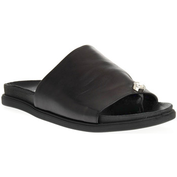 Schoenen Dames Leren slippers Sono Italiana NAPPA NERO Nero