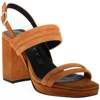 Schoenen Dames Sandalen / Open schoenen Vienty TAN JIM Marrone