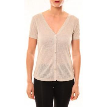 Textiel Dames T-shirts korte mouwen Meisïe Top 50-608SP14 Beige Beige