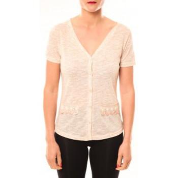 Textiel Dames T-shirts korte mouwen Meisïe Top 50-608SP15 Beige Beige