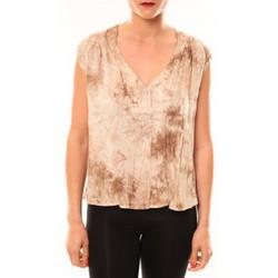 Textiel Dames Mouwloze tops Meisïe Top 50-504SP15 Beige Beige