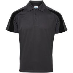 Textiel Heren Polo's korte mouwen Awdis JC043 Houtskool/Jet zwart