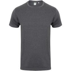 Textiel Heren T-shirts korte mouwen Skinni Fit SF121 Heide Houtskool