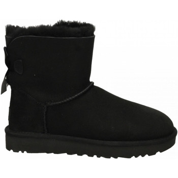 Schoenen Dames Enkellaarzen UGG MINI BAILEY BOW II black