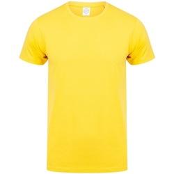 Textiel Heren T-shirts korte mouwen Skinni Fit SF121 Geel