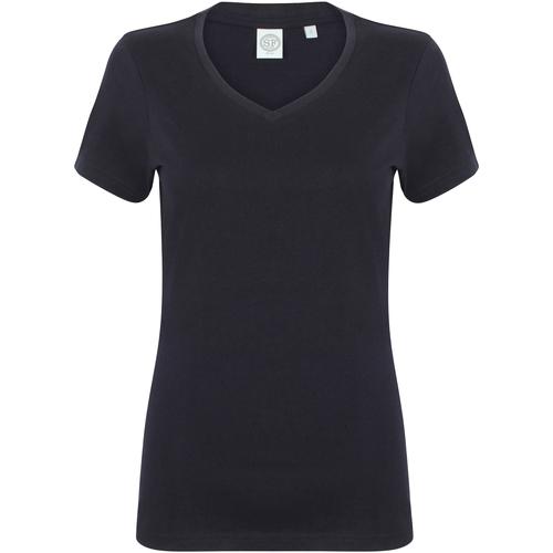 Textiel Dames T-shirts korte mouwen Skinni Fit SK122 Marine