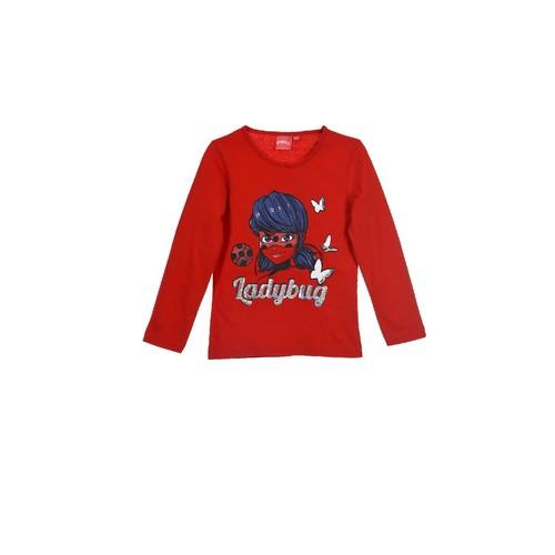 Textiel Meisjes T-shirts met lange mouwen TEAM HEROES  MIRACULOUS LADYBUG Rood