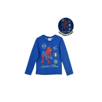 Textiel Jongens T-shirts met lange mouwen TEAM HEROES SPIDERMAN Blauw