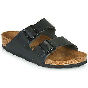 Schoenen Leren slippers Birkenstock ARIZONA LARGE FIT Zwart