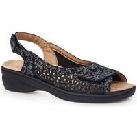 Schoenen Dames Sandalen / Open schoenen Calzamedi JUANETES ELASTICA SANDALEN ZWART