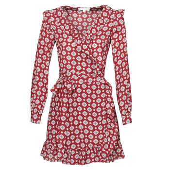 Textiel Dames Korte jurken MICHAEL Michael Kors LUX PINDOT WRAP DRS Bordeau