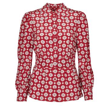 Textiel Dames Tops / Blousjes MICHAEL Michael Kors LUX PINDOT MED TOP Bordeau