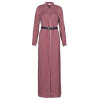 Textiel Dames Lange jurken MICHAEL Michael Kors WARM PLAYFL SHIRT DR Bordeau / Wit / Marine
