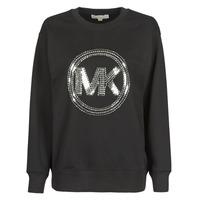 Textiel Dames Sweaters / Sweatshirts MICHAEL Michael Kors MK CRCL CLSC SWTSHRT Zwart
