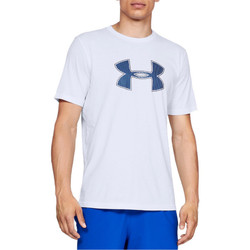 Textiel Heren T-shirts & Polo's Under Armour Big Logo SS Tee 1329583-100 Blanc