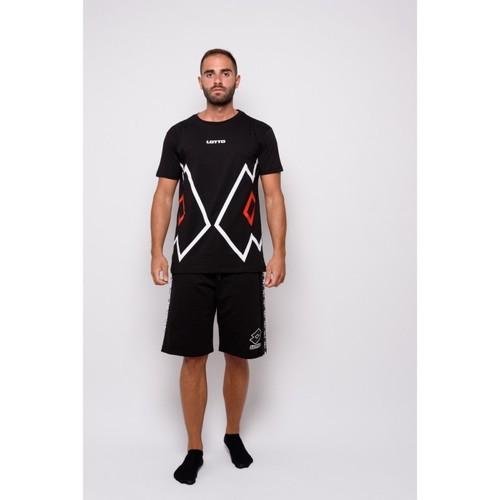 Textiel Heren T-shirts korte mouwen Lotto Half Sleeve Jersey T-shirt (ltu027-zwart) Zwart