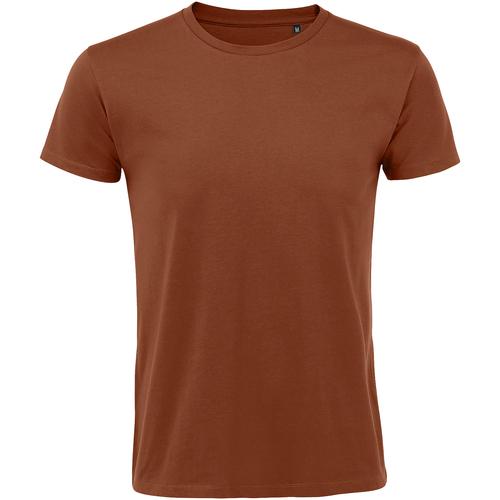 Textiel Heren T-shirts korte mouwen Sols 10553 Terracotta