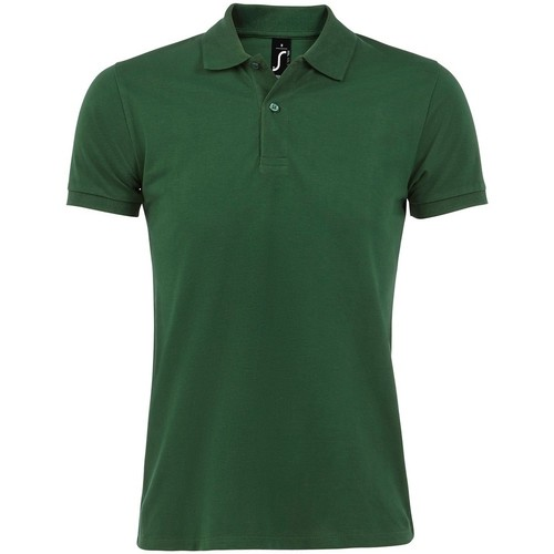 Textiel Heren Polo's korte mouwen Sols 11346 Fles groen