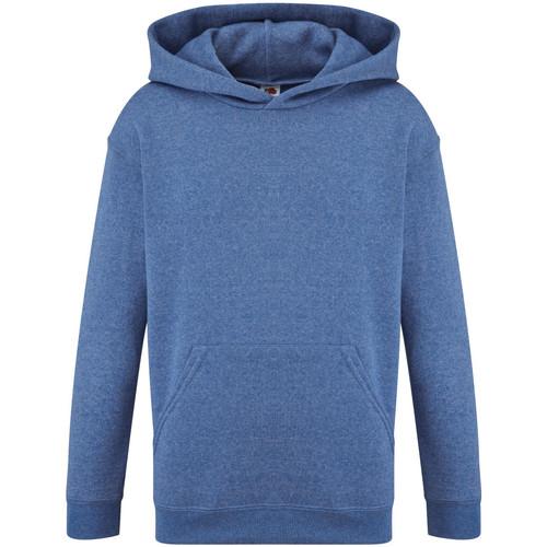Textiel Kinderen Sweaters / Sweatshirts Fruit Of The Loom 62043 Heather Royaal