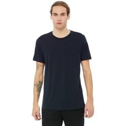 Textiel Heren T-shirts korte mouwen Bella + Canvas CA3413 Solide Marine Triblend