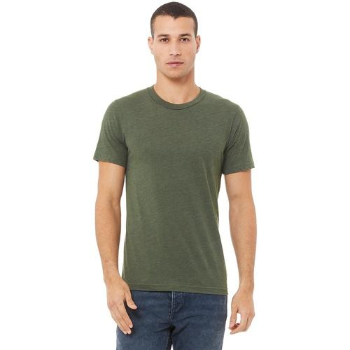 Textiel Heren T-shirts korte mouwen Bella + Canvas CA3413 Militaire Groene Triblend