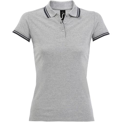 Textiel Dames Polo's korte mouwen Sols 10578 Heide Grijs/Navy