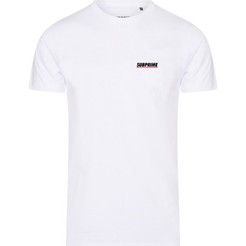 Textiel Heren T-shirts korte mouwen Subprime Shirt Chest Logo White Wit