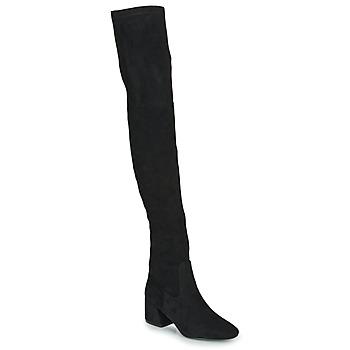 Schoenen Dames Lieslaarzen Vanessa Wu CUISSARDES HAUTES Zwart