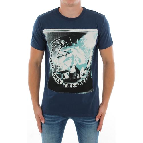Textiel Heren T-shirts korte mouwen Diesel 00SAG1-0W91B 86G Azul marino