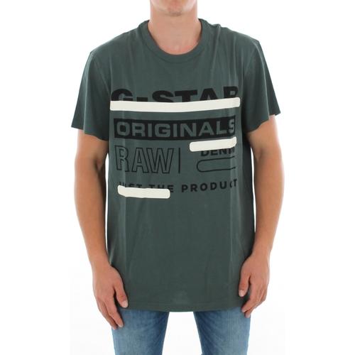 Textiel Heren T-shirts korte mouwen G-Star Raw ZB GRAPHIC 5 R T SS BALSAM Verde