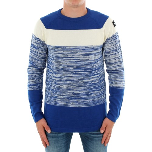 Textiel Heren Sweaters / Sweatshirts G-Star Raw CORE STRAIGHT STRIPE HUDSON BLUE IVORY Azul