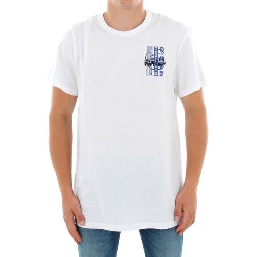 Textiel Heren T-shirts korte mouwen G-Star Raw ZB GRAPHIC 4 R T SS WHITE Blanco