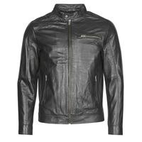 Textiel Heren Leren jas / kunstleren jas Selected SLHC01 Zwart