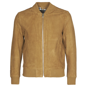 Textiel Heren Leren jas / kunstleren jas Selected SLHBROKE Bruin