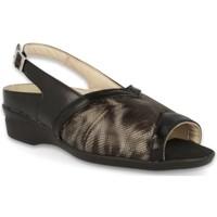 Schoenen Dames Sandalen / Open schoenen Dtorres LUGANO BREDE VOETEN  SANDALEN BLACK_01