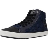 Schoenen Jongens Hoge sneakers Geox J ALONISSO B. F Zwart
