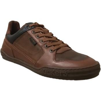 Schoenen Heren Lage sneakers Kickers Jungle Middenbruin leer