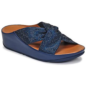 Schoenen Dames Sandalen / Open schoenen FitFlop TWISS CRYSTAL SLIDE Blauw
