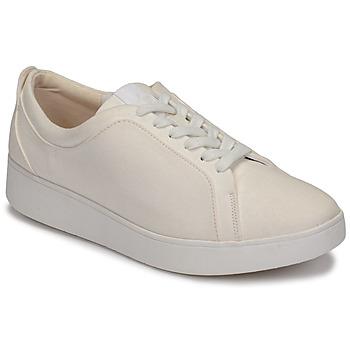 Schoenen Dames Lage sneakers FitFlop RALLY DENIM Wit