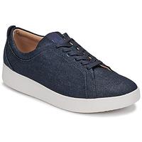 Schoenen Dames Lage sneakers FitFlop RALLY DENIM Blauw