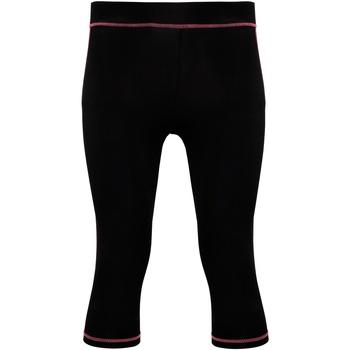 Textiel Dames Leggings Tridri Tri Dri Zwart / Heet Roze